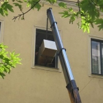 Vorsichtige Platzierung vor das offene Fenster...